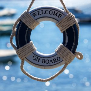 "Blue ""Welcome On Board"" Life Saver"